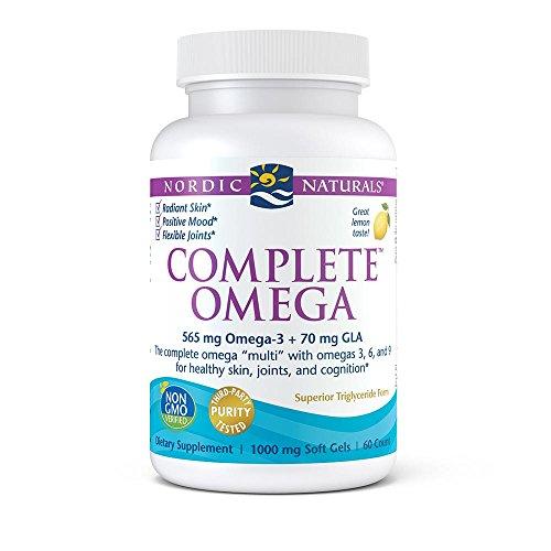 Nordic Naturals Complete Omega, Lemon - Soft Gels Support Healthy Skin, Joints, and Cognition, 60 Soft Gels