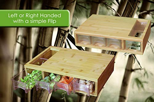 Large Bamboo Cutting Board with Trays/Draws - Wood Butcher Block with 4 Drawers & Opening For Meat, Fruits, Veggies, Bread, Cheese – Naturally Antimicrobial – Make Meal Prep Easy by Simpli Better (Image #3)