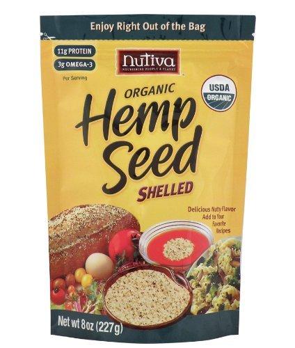 Nutiva Shelled Hempseed ( 1x8 OZ) ( Multi-Pack)