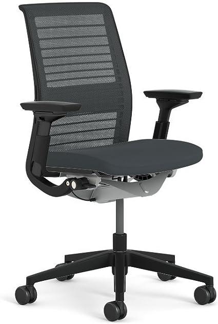 Amazon Com Steelcase Think 3d Licorice Mesh Fabric Chair Furniture Decor