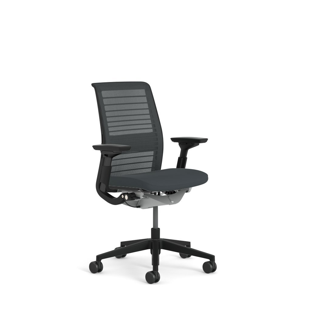 Steelcase think chair - Amazon Com Steelcase Think 3d Mesh Fabric Chair Licorice Kitchen Dining