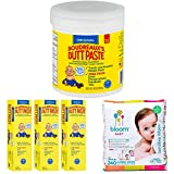 Boudreaux's Butt Paste Diaper Rash Ointment, Original 16 Ounce Bundle with Boudreaux's Butt Paste Diaper Rash Ointment - Original 4 Ounce and Bloom Baby Wipes, Sensitive, Unscented, 3 Packs of 80