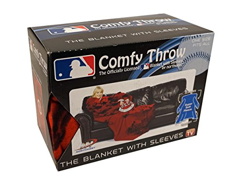 Cincinnati Reds MLB Comfy Throw - The Blanket with Sleeves, 48x71 Cincinnati Reds Comfy Throw