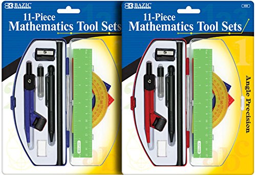 Angle Precision Student Math Tool Sets 72 pcs sku# 1909558MA by Bazic