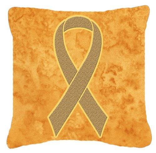 picture of Peach Ribbon for Uterine Cancer Awareness Canvas Fabric Decorative Pillow AN1219PW1414