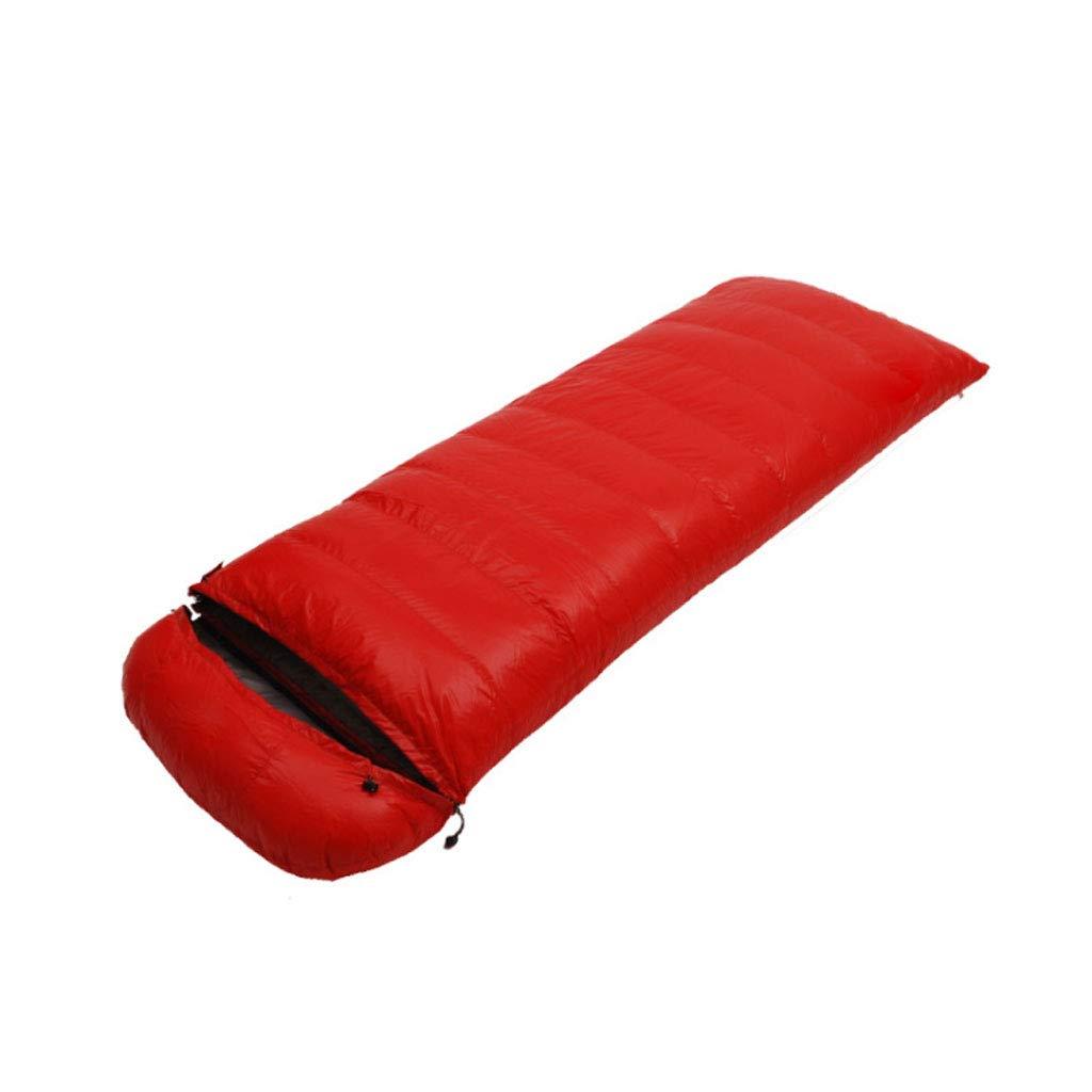 rouge 1.8kg DGB Type D'enveloppe Adulte Randonnée Pédestre Camping Sac De Couchage Imperméable Ultra Léger en Duvet De Canard