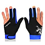 Billiard Shooters Gloves Elastic Lycra Pool Snooker 3 Fingers Gloves for Man Woman 1 Pc for Left and Right Hand