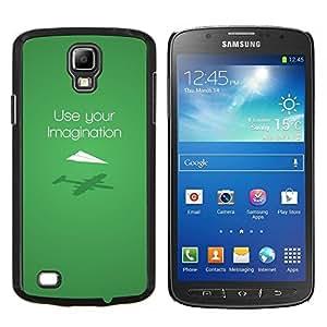 EJOOY---Cubierta de la caja de protección para la piel dura ** Samsung Galaxy S4 Active i9295 ** --Uso Imaginación Verde Diseño Moderno