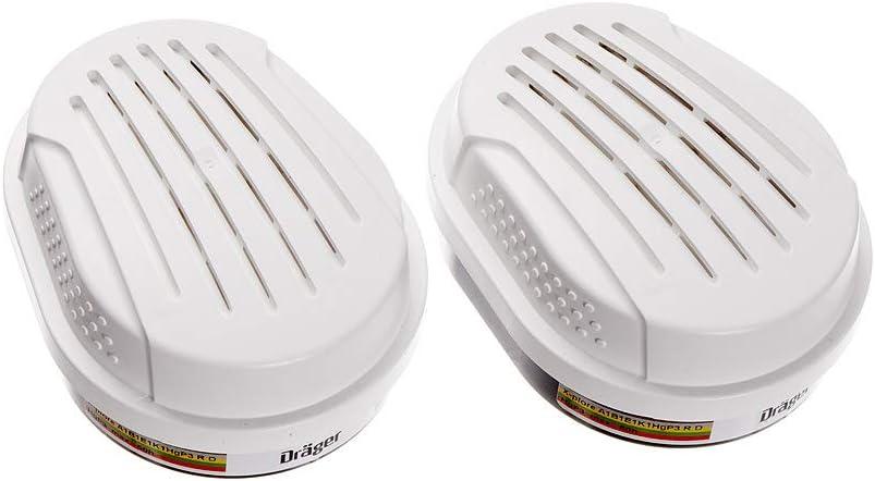 Dräger X-plore ABEK HG P3 R D filtros | 6 filtros de protección respiratoria química Frente a vapores | Compatible con Las Dräger máscaras 3300/3500/5500
