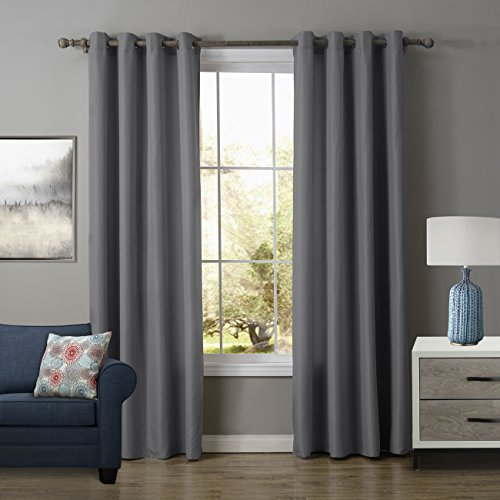 Hot Rod Costume Instructions (KINDOBEST Gray Solid Color Oxford Gromment Semi-sheer Curtain(1 Panel)/drape/treatment for Bedroom/Living Room Size (52W×95L inch))