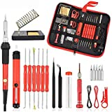 26PCS/SET Soldering Iron 60w Adjustable Electric Solder Sation Iron Kits EU/US Multifunctional pyrography For Wood…