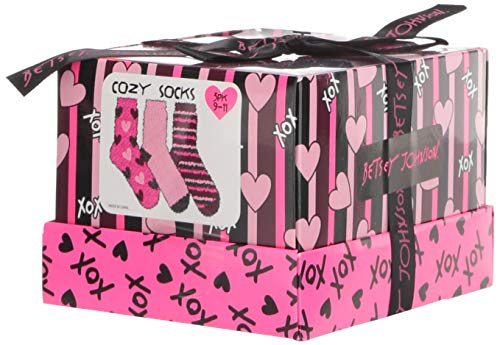 Betsey Johnson Women's Heart and Stripe Cozy Gift Box BJ44822, Multi, One Size
