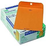 Quality Park Gummed Kraft Clasp Envelopes, 7.5 x 10.5, Box of 100 (37875)