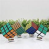 GoodPlay Newest Shengshou Bundle Pack Puzzle 2x2x2 3x3x3 4x4x4 5x5x5 Speed Cube puzzle Sticker Black(Save lots of money)+Four Customized Cube Tripods