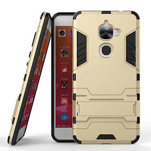 LeEco Le S3 Hybrid Case, LeEco Le S3 Shockproof Case, Dual Layer Protection Shock Absorption Hybrid Rugged Case Hard Shell Cover with Kickstand for 5.5'' LeEco Le S3