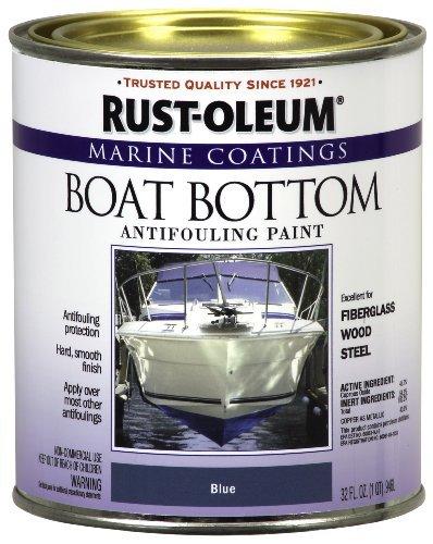 Rust-Oleum 207013 Marine Flat Boat Bottom Antifouling Paint, 1-Quart, Blue by Rust-Oleum (Best Boat Bottom Paint Saltwater)