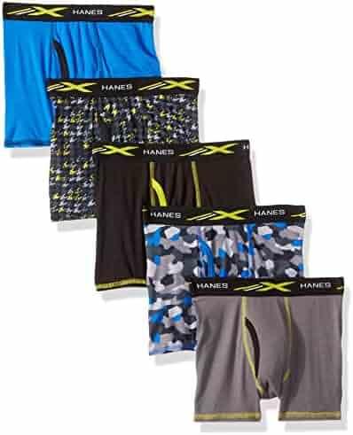 Hanes Boys' Active Cool X-Temp Boxer Brief 5-Pack