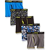 Hanes Big Boys' Active Cool X-Temp Boxer Brief 5-Pack, Assorted, Small