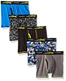 Hanes Big Boys' Active Cool X-Temp Boxer Brief 5-Pack, Assorted, Medium