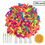 1200 Pack Water Balloons Bulk Refill Kits Water Bomb Fight Games -Summer Splash Fun for Water Balloon for Kids and Adults.