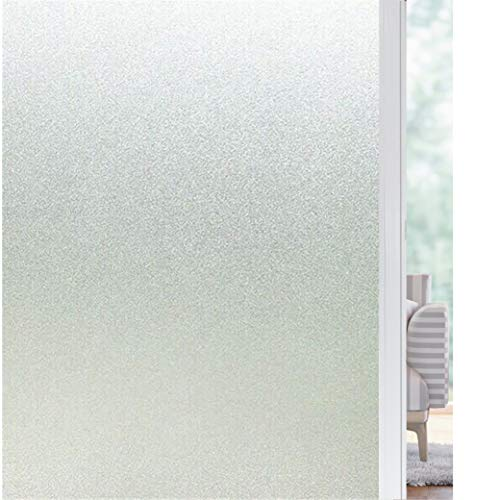 solardiamond Privacy Window Film No Glue Static Cling Decorative Removable Non-Adhesive Frosted Glass Window Stickers for Home, Kitchen, Office Bedroom, Bathroom -17.7in X 6.5 ft (17.7in X 78.7in)