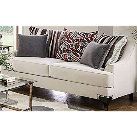 Furniture Of America SM2206 LV Visconti Upholstered Furniture Ivory