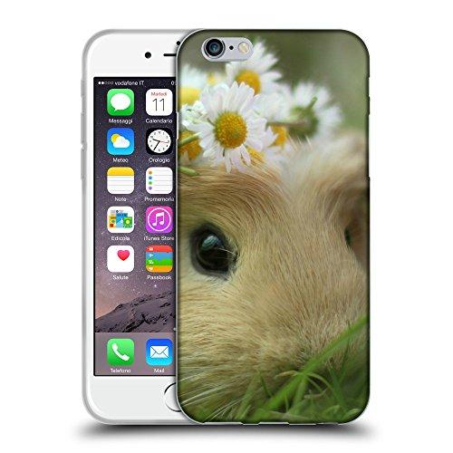 """Just Phone Cases Coque de Protection TPU Silicone Case pour // V00004136 Guinée cochon avec des fleurs // Apple iPhone 6 6S 6G PLUS 5.5"""""""