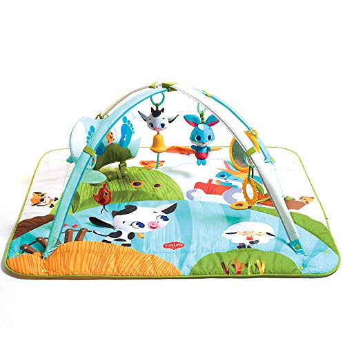 Tiny Love Gymini Kick & Play, Baby Play Mat, Suitable from Birth, 0 Month +, 110 x 100 x 61, Tiny Farm