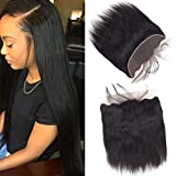 Sky Human Hair Ear To Ear Lace Frontal Closure Free Part Unprocessed Brazilian Straight Frontal Full Lace 13X4 Free Part Top Lace Front Closure With Baby Hair Natural Color (10)