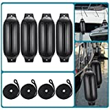 4 Pack 27 inches Inflatable Boat Fenders, Molded