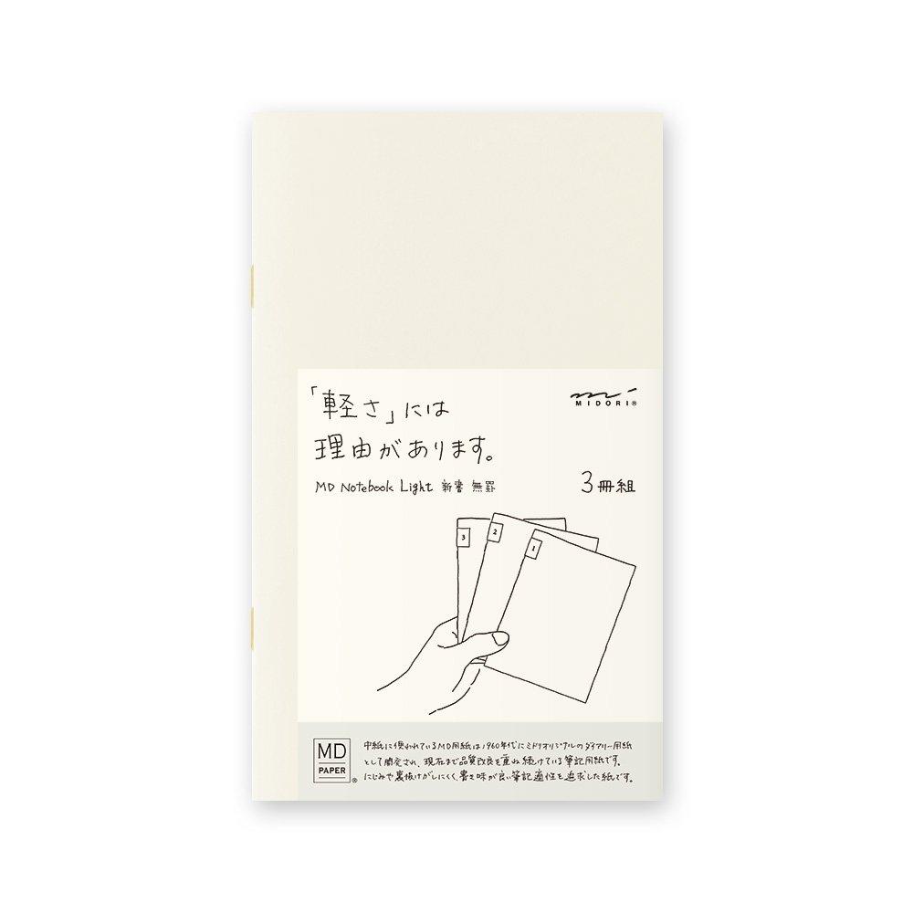 Midori MD Notebook Light B6 Slim (Blank) 3 pcs/Pack 15209006