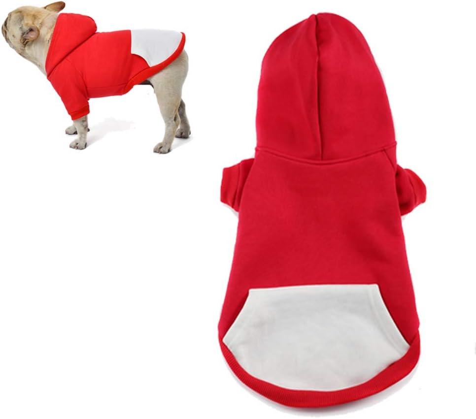 XS, Schwarz meioro Hunde Kapuzenpullis Warm Hundebekleidung Rei/ßverschluss Hundekleidung Nette Haustier Hoodies