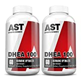 DHEA 100 - AST Sports Science 100mg per Capsule - for Supporting Lean Muscle and Decreased Body Fat, Promoting Energy, and Supporting Healthy Aging in Both Men and Women. (2)