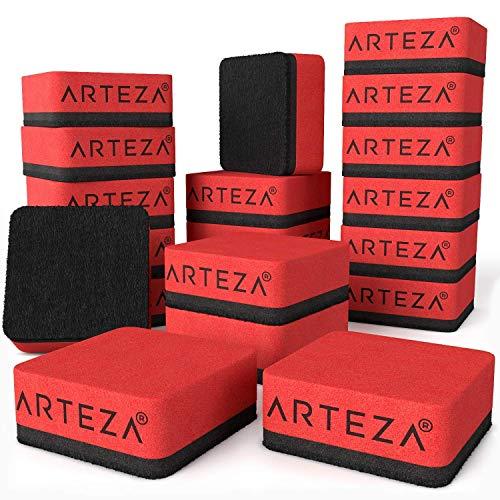 ARTEZA Dry Erase Supply Bundle: Multicolor Dry Erase Markers Chisel Tip Set of 52, Black Dry Erase Markers Fine Tip Set of 52 and Magnetic Dry Erasers Pack of 20 by ARTEZA (Image #4)