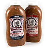 Edward Johnson's Squeeze Salsa, Combo, 16 oz (Combo Pack: One 16 oz Bottle of Original and One 16 oz Bottle of Spicy)