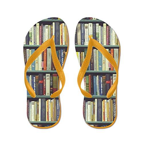 CafePress Bookshelf7100 - Flip Flops, Funny Thong Sandals, Beach Sandals Orange