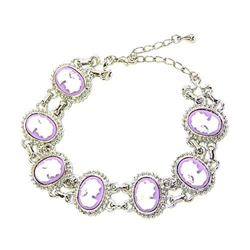 Faship Purple Portrait Cameo Bracelet Vintage Style Vintage Style Cameo Jewelry