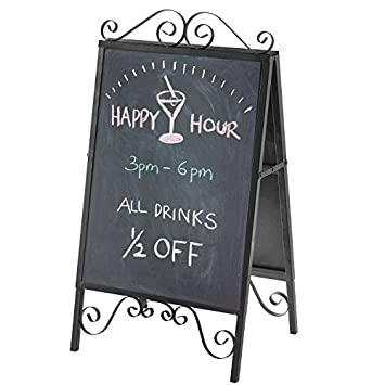 amazon scrollwork design a frame metal top load chalkboard poster