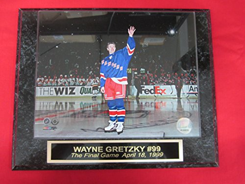 Wayne Gretzky New York Rangers THE FINAL GAME Engraved Collector Plaque #1 w/8x10 - Rangers Clubhouse
