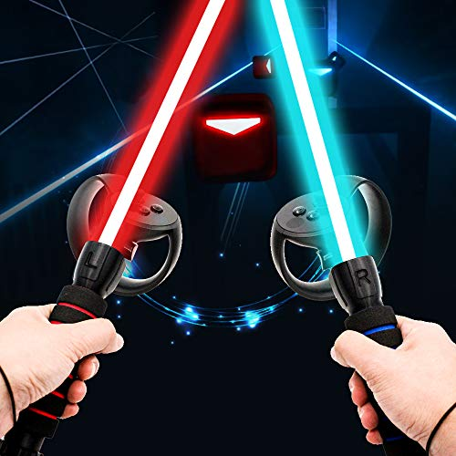 AMVR Dual Handles Gamepad for Oculus Rift Controllers Playing Beat Saber Game