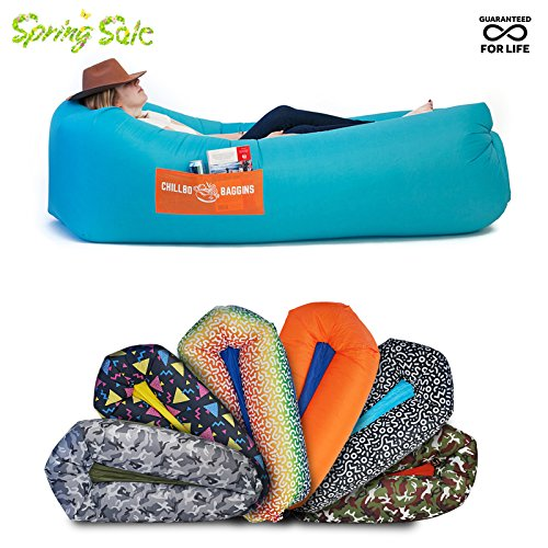 Price comparison product image Chillbo Baggins 2.0 Best Inflatable Lounger Hammock Air Sofa and Pool Float Ships Fast! IDEAL SUMMER GIFT Air Lounger for Indoor or Outdoor Use or Inflatable Lounge for Camping Picnics & Festivals