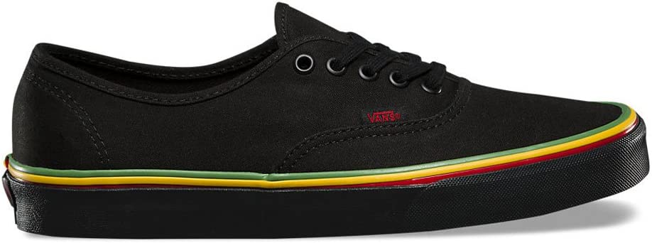 Amazon.com: Vans Authentic Skate Shoes - (Rasta) Negro/Negro ...