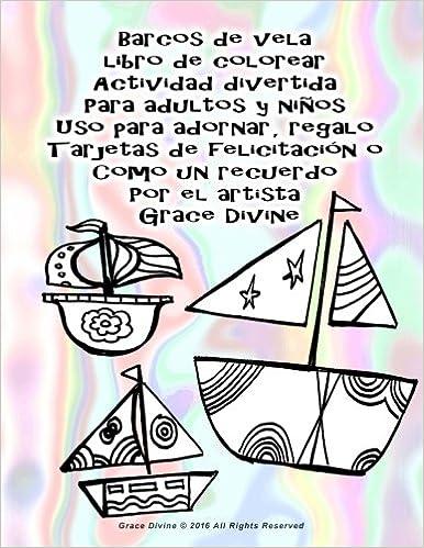 Barcos de vela libro de colorear Actividad divertida Para adultos y ...