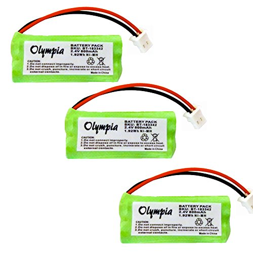 3 Pack of AT&T CRL82312 Battery - Replacement Battery for AT&T Cordless Phone (800mAh, 2.4V, NI-MH) ()