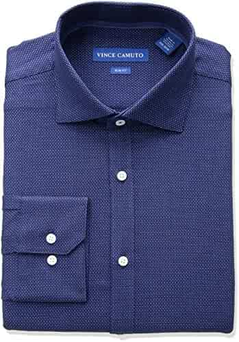Vince Camuto Men's Slim Fit Dobby Dress Shirt
