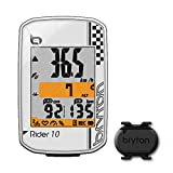Bryton Rider 10 GPS Cycling Computer (2.0'', Rider 10C (White) - with Cadence ANT+/BLE)