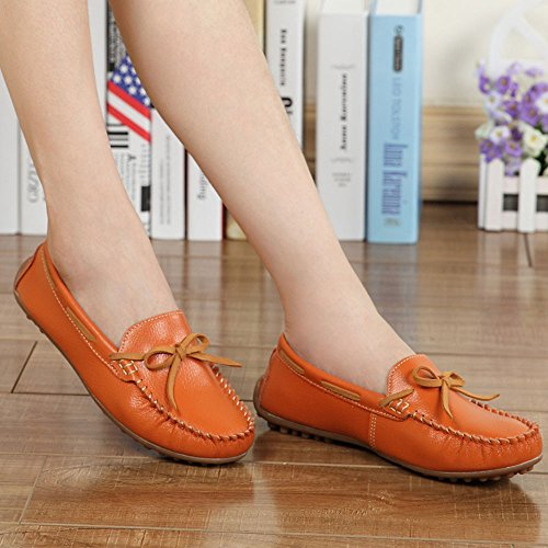Women's Surface Casual Wear Shoes Shoes Bean Orange Yangjiaxuan Activities Indoor Flat Soft Comfortable 4xEwOnFd
