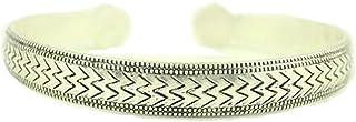 GYJUN 1pcs bracelet n0.3 argent vintage tibétain de mode sculpté