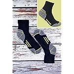Sock Snob Chaussettes de travail à la cheville en coton rembourré ultime pour hommes pour bottes à bout en acier 10