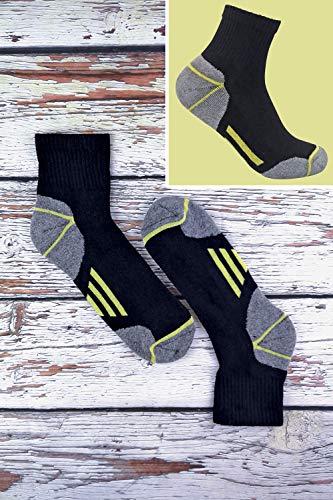 Sock Snob Chaussettes de travail à la cheville en coton rembourré ultime pour hommes pour bottes à bout en acier 5